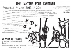 Vendredi 1er mars: Une cantine pour cantiner