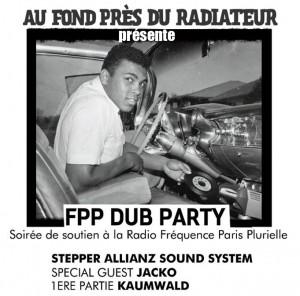 Vendredi 12 avril: soirée Sound System Dub, en soutien à FPP