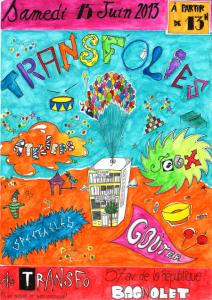 Samedi 15 juin: Transfolies (jeux, ateliers, pestacles, goûter, etc.)