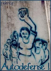 Mardi 7 mai 2013: Cantine de soutien à l'autodéfense féministe