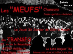 """Jeudi 23 janvier 2014: Kafé Disjonc'thé avec """"Les Meufs"""""""