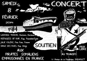 Samedi 8 février 2014: Concert de soutien aux pirates somaliens