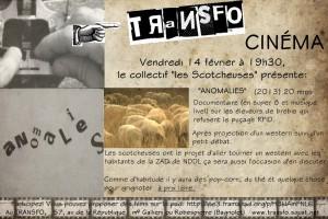 Vendredi 14 février 2014: Le ciné-club du Transfo accueille les Scotcheuses