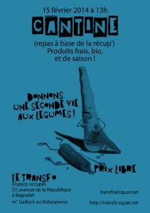 Samedi 15 février 2014: Cantine du Transfo
