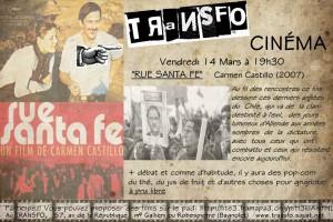 """Vendredi 14 mars 2014: Projection de """"Rue Santa Fe"""" + débat"""