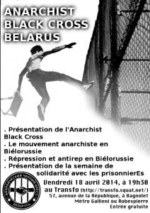 Vendredi 18 avril 2014: Mouvement anarchiste et antirépression en Biélorussie