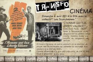 """Dimanche 6 avril 2014: Ciné-club """"L'homme qui tua Liberty Valance"""""""