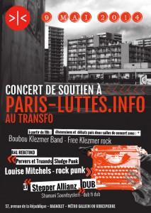 Vendredi 9 mai 2014: Soirée de soutien à Paris-luttes.info