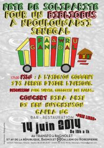 Samedi 14 juin 2014: Fête de solidarité pour un bibliobus à Ndouloumadji (Sénégal)