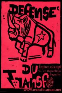 URGENT : Ce matin 23 octobre 2014, expulsion du Transfo !