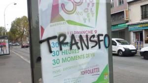 Récit de la manif de solidarité avec le Transfo expulsé